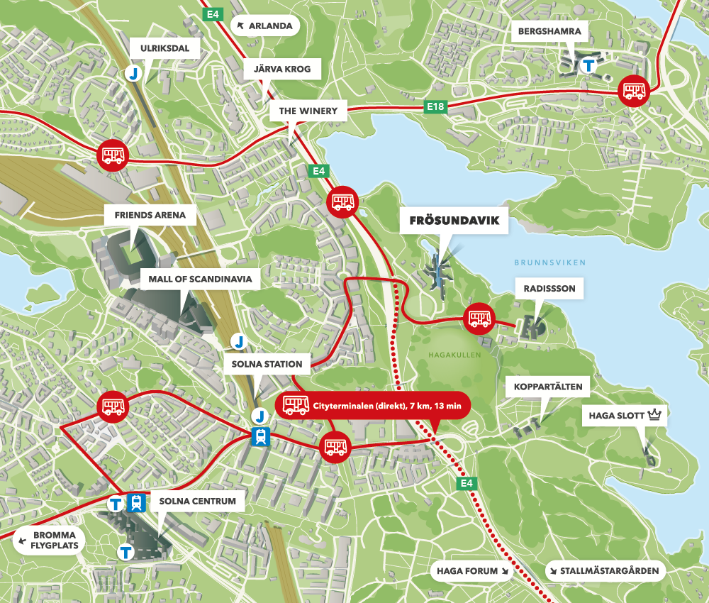 friends arena map